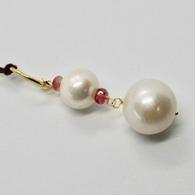 Pendant Yellow Gold 18K with White Pearls Fresh Water and Tourmaline Pink image 2