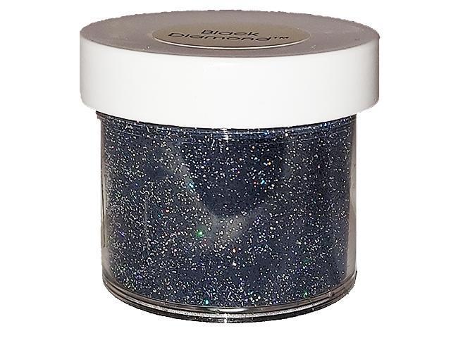 JudiKins Embossing Powder, Black Diamond Sparkling