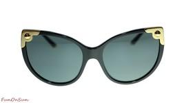 Dolce & Gabbana Katzenaugen Sonnenbrille DG4337 50187 Schwarz/Grau Gläser 60mm - $224.40