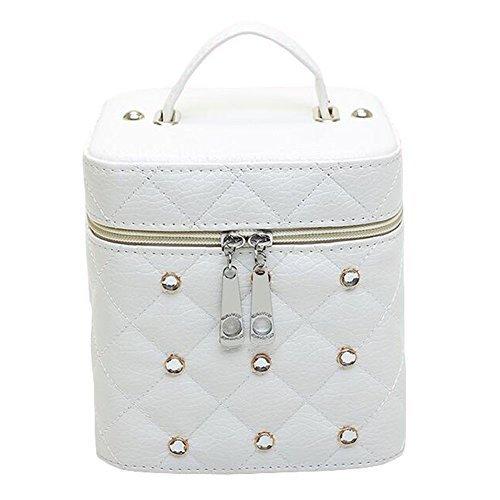 Cosmetics Case Household Storage Pack Makeup Organizer Boxes -White - $49.98