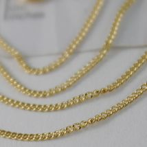18K YELLOW GOLD CHAIN 17.7 MINI CUBAN CURB GOURMETTE LINK 0.9 MM, MADE IN ITALY image 3