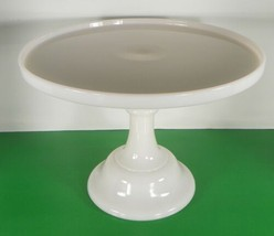 """Mosser Pink Milk Glass CROWN TUSCAN Cake Plate Stand 12-1/4"""" Cambridge O... - $94.99"""