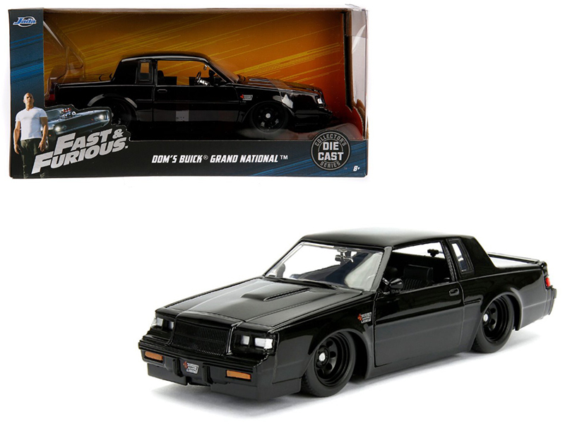 "Dom\'s Buick Grand National Black ""Fast & Furious\"" Movie 1/24 Diecast Model Ca"
