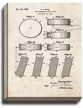 Official NHL Puck 1942-1960 Patent Print Old Look on Canvas - $39.95+