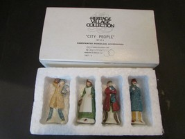DEPT 56 59676 HERITAGE VILLAGE ACCESSORY CITY PEOPLE SET OF 4 MINT L135 - $15.63