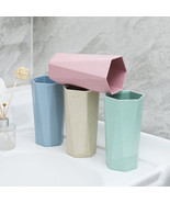 GRUKVAR plastic water cup drop-resistant geometric shape fashion cup - $5.99