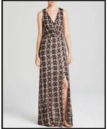 NWT ELLA MOSS JOELLA BLACK PRINT SLEEVELESS WRAP MAXI DRESS L - $84.99