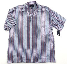 NWT NAUTICA Sleepwear Button Up Striped Shirt Men's Size Large 100% Cotton - $32.62