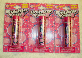Bubble Yum Flavored Lip Balm Gloss Chewing Gum Original 3 Tubes - $4.98