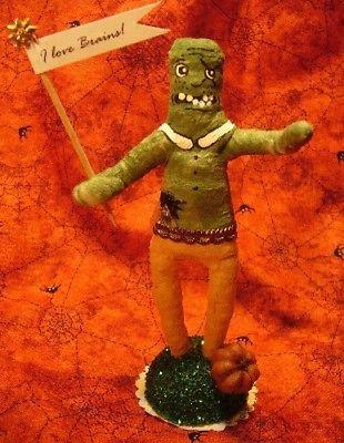 Vintage Inspired Spun Cotton Halloween Zombie Boy