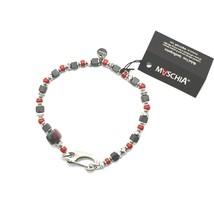 Bracelet en Argent 925 Rubis Zoïsite Corail Bpan-13 Made IN Italy By Mas... - $99.41