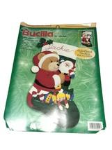 Bucilla Felt Applique Kit 84252 Teddy's Christmas Stocking - $26.19