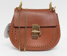 New $2090 Chloe Drew Small Perforated Caramel Calf Leather Bag - $1,664.04