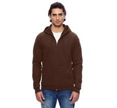 American Apparel California Fleece Zip Up Hoodie Chocolate Brown 5497 S NEW - $18.55