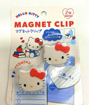 Hello Kitty Magnet Clip - Set Of 2 By Sanrio Daisy Japan Refrigerator Ma... - $9.50