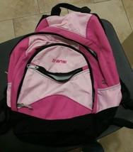 Trans By Jansport Pink Backpack Bookbag Laptop Sleeve 5 Pockets - $34.64