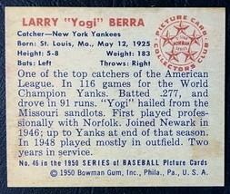 1950 Bowman #46 Yogi Berra Reprint - MINT - New York Yankees - $1.98