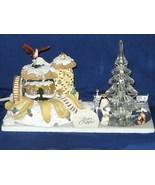 Silvestri Lighted Christmas Veggie House, Glass Tree, Pewter Train 63 - $18.00