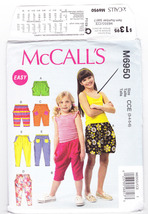 Pattern McCalls 6950 Girls Size 3 4 5 6 Shorts Pants Easy, 2014 - $3.99