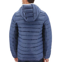 Men's Puffer Hooded Lightweight Zip Insulated Packable Quilted Jacket image 4