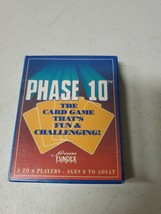Vintage Fundex Phase 10 Card Game Complete 1992 USA Made (a326) - $8.42