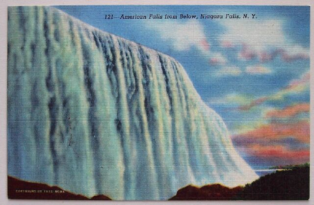 Primary image for 1940s PC American Falls from Below, Niagara Falls, NY
