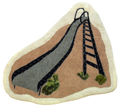 The Slide: Quilted Art Wall Hanging - $295.00