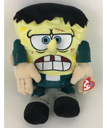 Ty Beanie Buddy Spongebob Squarepants Frankenstein Plush Stuffed Animal ... - $24.70