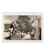 Christmas Tree Children Toys Baby Doll Tricycle Bike Antique Photograph ... - $10.99