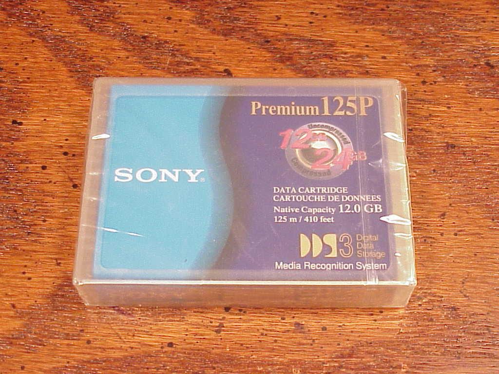 Lot of 2 New Sony DGD125P Premium Data Cartridges, 12.0 GB, 125m, 410 feet, 125P