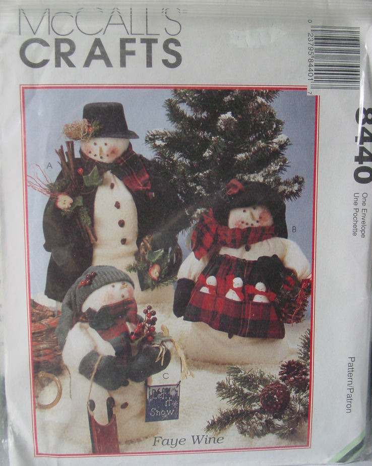 "Primary image for Pattern 8440 Snowman Family 16"" Snow People 11"" baby"