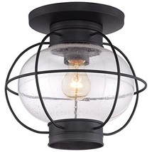 Quoizel COR1611K Cooper Outdoor Flush Mount Lantern, 1-Light, 100 Watts,... - $150.85
