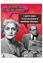 Said It Once' Funny Happy Valentine's Day Greeting Card with Envelope 8.... - $11.47