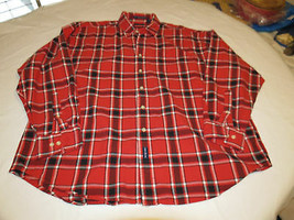 Gant Neuf Havre Oxford Hommes Bouton Manches Longues T-Shirt XL Rouge Pl... - $21.30