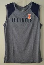Camp David NCAA Breeze Womens Sleeveless Mesh Panel Tee Illinois Illini Blue - $16.63