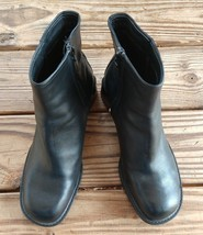 Timberland Size 8.5 BLACK Smart Comfort System Zipper Ankle Boots Heel W... - $53.19