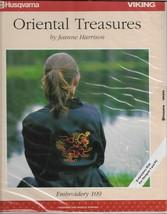 Husqvarna-Oriental Treasures Jeanne Harrison-Embroidery 112-Disk Designe... - $23.20