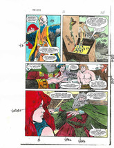 Original 1983 Red Sonja 2 Marvel Comics color guide production art page ... - $29.69
