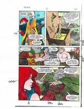 Original 1983 Red Sonja 2 Marvel Comics color guide production art page 36:1980s - $29.69