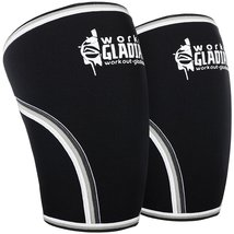 Knee Compression Sleeve L 7mm Neoprene Brace Max Support for Weightlifting, Powe - $27.97