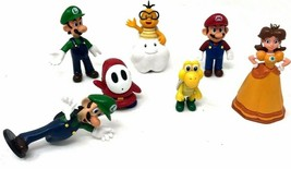 SUPER MARIO BROTHERS LOT OF 7 MINI FIGURES PVC PLASTIC WORLD NINTENDO 2007 - $26.99