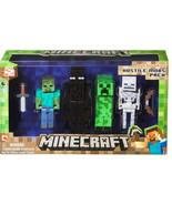 Minecraft Hostile Mob Pack 4 PCS Zombie Enderman Action Figure Doll Gift... - $40.00