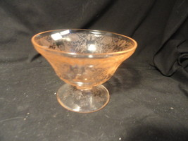 Pink Florentine Depression Glass Candy Bottom Mint NO LID - $27.99