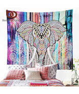 Elephant Tapestry Colored Printed Decorative Mandala Tapestry - $13.99+