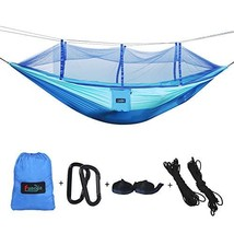 Camping Hammock Single & Double Lightweight Portable with Mosquito Net 1... - $28.08