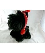 "Aurora Scotty Scottish Terrier Winter Christmas Red fleece Hat plush 10"" - $13.85"