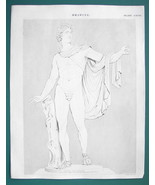 DRAWING for Artists Nude Figure of Apollo - c. 1835 Fine Quality Print - $9.45