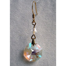 Crystal Octagon Earrings image 2