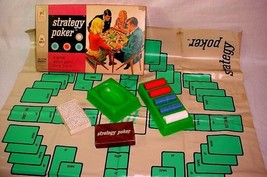 Vintage 1967 Milton Bradley Strategy Poker Game - $25.73