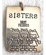 LUCY ANN Sterling Pendant SISTERS BEST FRIENDS - $16.95